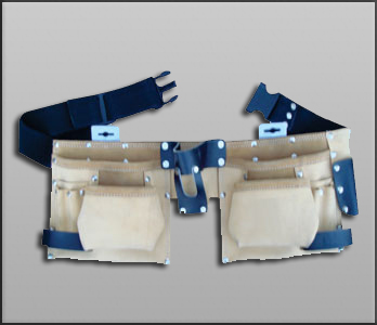 Double Leather Tool Pouch for Carpenters